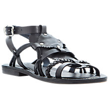 Buy Bertie Jilt Leather Flat Sandals Online at johnlewis.com