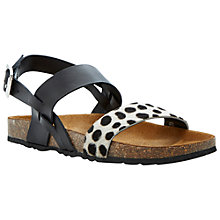 Buy Bertie Jafari Leather Flat Sandals Online at johnlewis.com