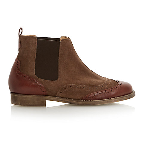 Buy Bertie Pander Leather Ankle Boot Online at johnlewis.com