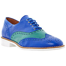 Buy Bertie Leopold Two-Tone Leather Brogues, Blue/Green Online at johnlewis.com