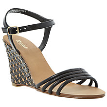Buy Dune Hath Leather Wedge Heeled Sandals Online at johnlewis.com
