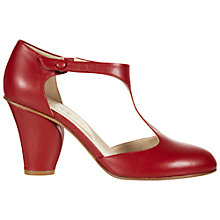 Buy NW3 by Hobbs Amelie T Bar Court Shoes, Fire Brick Red Online at johnlewis.com