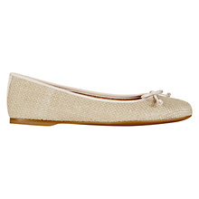 Buy Hobbs Prior Ballerina Pumps, Natural Beige Online at johnlewis.com