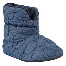 Buy John Lewis Tenor Quilted Slipper Boots, Denim Blue Online at johnlewis.com