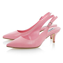 Buy Dune Cathryn Leather Slingback Court Shoes Online at johnlewis.com
