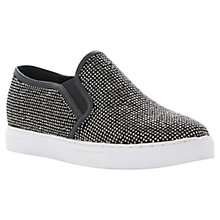 Buy Dune Litzie Microfibre Trainers, Black Online at johnlewis.com