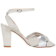 Buy NW3 by Hobbs Fleur Sandals, Grey Silver Online at johnlewis.com