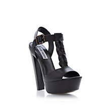Buy Steve Madden Daylee High Heeled Sandals, Black Online at johnlewis.com