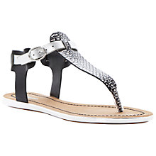 Buy Dune Jayla Thong Leather Sandals, Black Online at johnlewis.com
