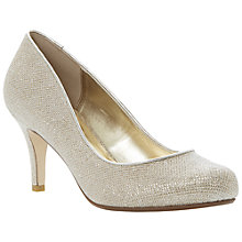 Buy Dune Amelia Court Heels, Gold Online at johnlewis.com