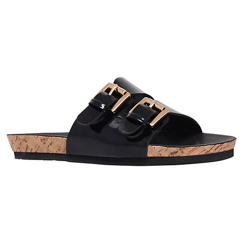 Buy Carvela Khris Flat Sandals, Black Online at johnlewis.com