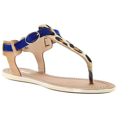 Buy Dune Jayla Thong Leather Sandals Online at johnlewis.com