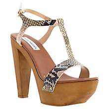 Buy Steve Madden Ownit Platform Leather Sandals, Natural Online at johnlewis.com