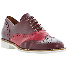 Buy Bertie Leopold Two-Tone Leather Brogues, Burgundy/Red Online at johnlewis.com