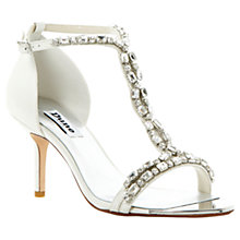 Buy Dune Happiness Jewelled Leather Sandals, Ivory Online at johnlewis.com