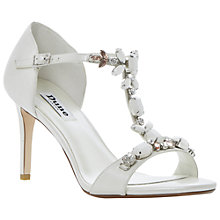 Buy Dune Hummingbird Chunky Jewelled T-Bar Stiletto Sandals Online at johnlewis.com