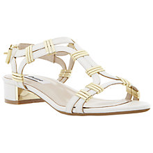 Buy Dune Faith Metal Trim Sandals, White Online at johnlewis.com