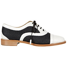 Buy Hobbs Walter Lace Up Leather Brogue, Black/White Online at johnlewis.com