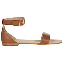 Buy Hobbs Ingrid Leather Sandals, Milky Tan Online at johnlewis.com