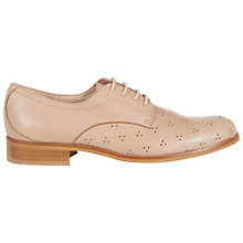 Buy NW3 by Hobbs Millie Derby Leather Brogue, Soft Nude Online at johnlewis.com