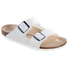 Buy Birkenstock Arizona Sandals, White Online at johnlewis.com