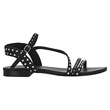 Buy Jigsaw Louise Leather Studded Flat Sandals Online at johnlewis.com