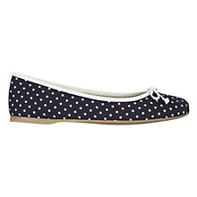 Buy Hobbs Prior Ballerina Pumps, Navy Ice White Online at johnlewis.com