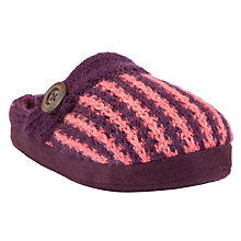 Buy John Lewis Jazz Knitted Slippers Online at johnlewis.com