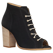 Buy KG by Kurt Geiger Selina Leather High Heel Ankle Boots, Black Online at johnlewis.com