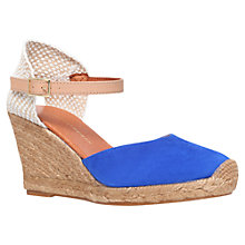 Buy KG by Kurt Geiger Monty Suede Wedge Espadrilles, Blue Online at johnlewis.com