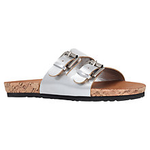 Buy Carvela Khris Flat Sandals, Silver Online at johnlewis.com