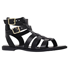 Buy KG by Kurt Geiger Mambo Flat Leather Sandals, Black Online at johnlewis.com