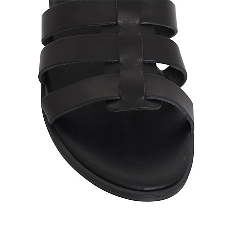 Buy KG by Kurt Geiger Mambo Flat Leather Sandals Online at johnlewis.com