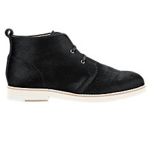 Buy Whistles Robyn Leather Desert Ankle Boots, Black Pony Online at johnlewis.com