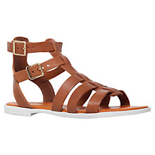 Buy KG by Kurt Geiger Mambo Flat Leather Sandals, Tan Online at johnlewis.com