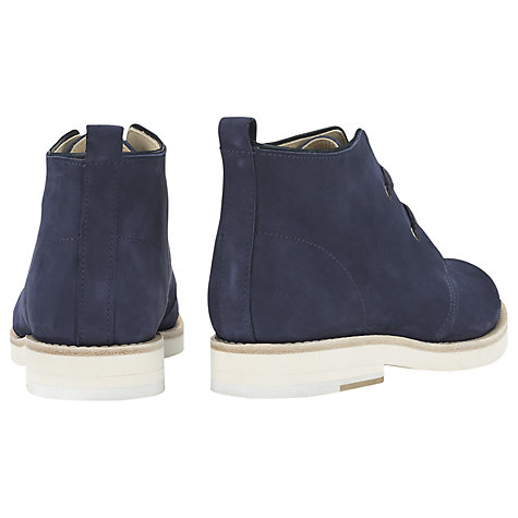 Buy Whistles Robyn Desert Leather Ankle Boots, Navy Online at johnlewis.com