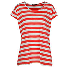 Buy Mango Striped Slub-Cotton T-Shirt Online at johnlewis.com