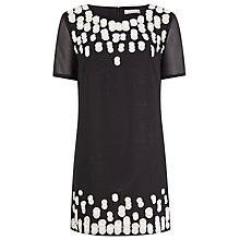 Buy Planet Embellished Tunic Dress, Black Online at johnlewis.com