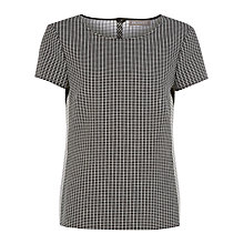 Buy Planet Checked Blouse, Black Online at johnlewis.com