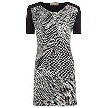 Buy Planet Print & Solid Jersey Tunic Dress, Multi Online at johnlewis.com