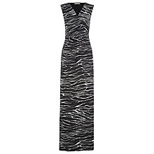 Buy Planet Tiger Maxi Dress, Black/White Online at johnlewis.com