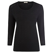 Buy Planet Pointelle Jumper, Black Online at johnlewis.com