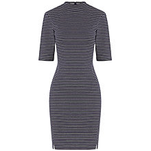 Buy Whistles Melina Stripe Bodycon Dress, Blue/White Online at johnlewis.com