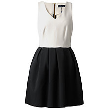 Buy Closet Monochrome Contrast Dress, Black/White Online at johnlewis.com