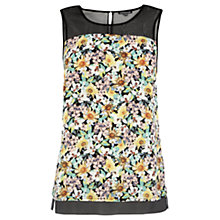 Buy Warehouse Ditsy Print Organza Top, Multi Online at johnlewis.com
