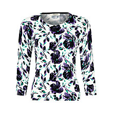 Buy Precis Petite Floral Trellis Cardigan, Multi Dark Online at johnlewis.com