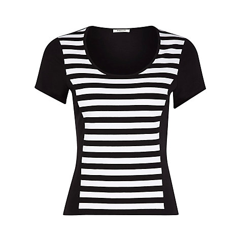 Buy Precis Petite Stripe And Panel Top, Black Online at johnlewis.com