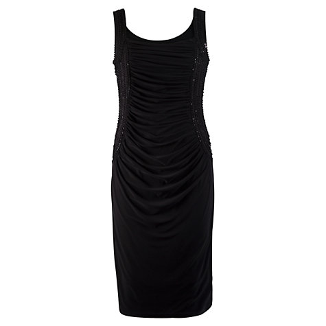 Buy Chesca Ruched Beaded Bodice Dress, Black Online at johnlewis.com