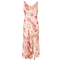 Buy Chesca Silk-Blend Crysanth Devoree Beaded Dress, Apricot Online at johnlewis.com