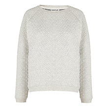 Buy Whistles Cable Knit Sweatshirt, Grey Online at johnlewis.com